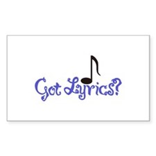 Got Lyrics? Decal