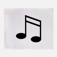 Beamed 16th Notes Throw Blanket