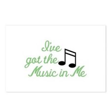 Ive Got the Music In Me Postcards (Package of 8)