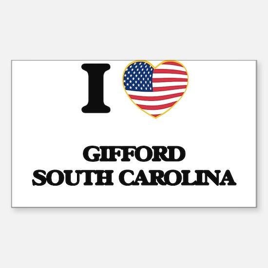 I love Gifford South Carolina Decal