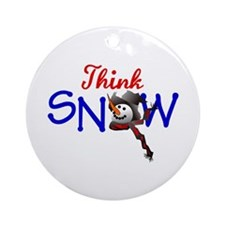 Think Snow Ornament (Round)