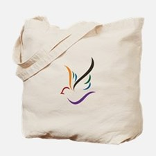 Abstract Dove Tote Bag
