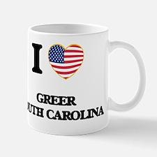 I love Greer South Carolina Mug