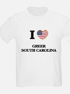 I love Greer South Carolina T-Shirt