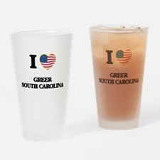 I love Greer South Carolina Drinking Glass
