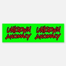 UNKNOWN ANOMALY Bumper Bumper Bumper Sticker