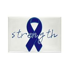 Blue Awareness Ribbon Rectangle Magnet