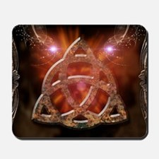 Celtic knot and floral elements Mousepad