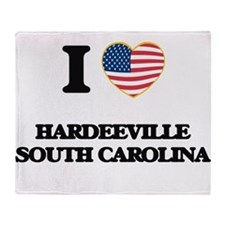 I love Hardeeville South Carolina Throw Blanket