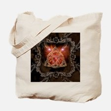 Celtic knot and floral elements Tote Bag