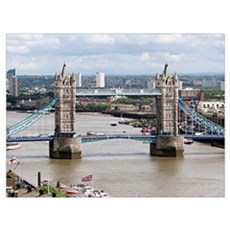 Tower Bridge, Thames River, London, England 2 Poster