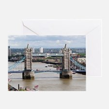 Tower Bridge, Thames River, London,  Greeting Card