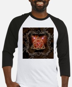 Celtic knot and floral elements Baseball Jersey