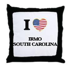 I love Irmo South Carolina Throw Pillow