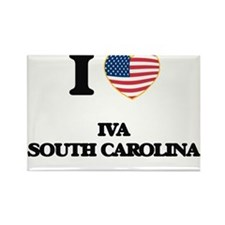I love Iva South Carolina Magnets
