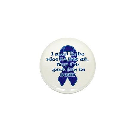 Blue Ribbon Mini Button