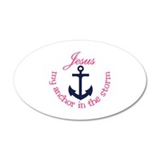 Jesus My Anchor Wall Decal