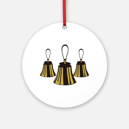 Three Handbells Ornament (Round)