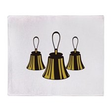 Three Handbells Throw Blanket