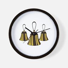 Three Handbells Wall Clock