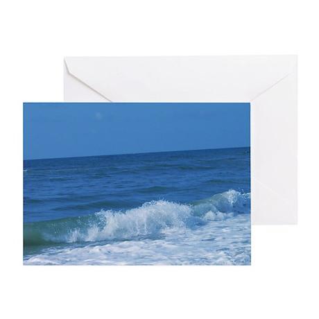 Greeting Card Waves break on Topsail beach K