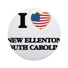 I love New Ellenton South Carolin Ornament (Round)
