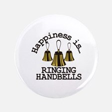"Happiness is Ringing 3.5"" Button (100 pack)"