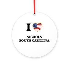 I love Nichols South Carolina Ornament (Round)