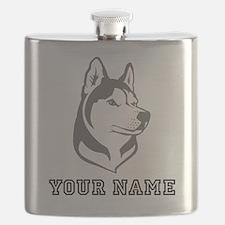 Wolf Head (Custom) Flask