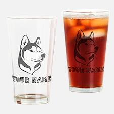 Wolf Head (Custom) Drinking Glass
