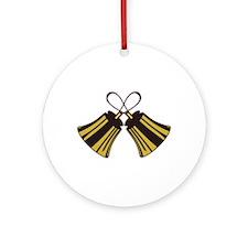 Crossed Handbells Ornament (Round)