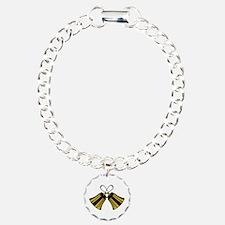 Crossed Handbells Bracelet