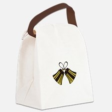 Crossed Handbells Canvas Lunch Bag