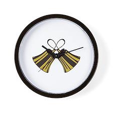 Crossed Handbells Wall Clock