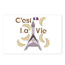 Cest La Vie Postcards (Package of 8)