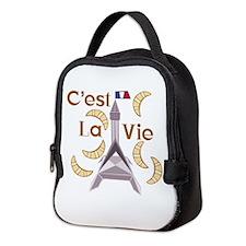 Cest La Vie Neoprene Lunch Bag