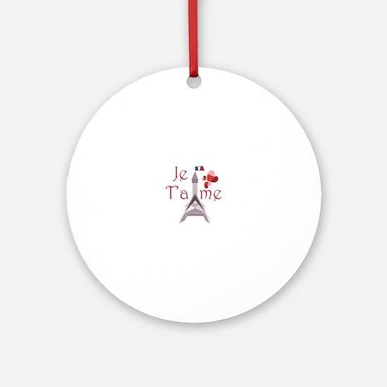 Je Taime Ornament (Round)