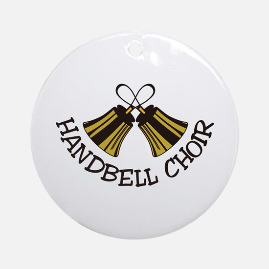 Handbell Choir Ornament (Round)