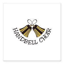"""Handbell Choir Square Car Magnet 3"""" x 3"""""""