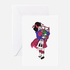 Bagpiper Greeting Cards