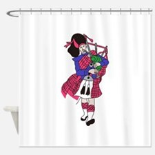 Bagpiper Shower Curtain