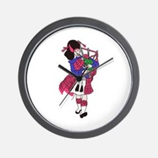 Bagpiper Wall Clock