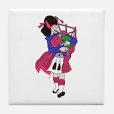 Bagpiper Tile Coaster