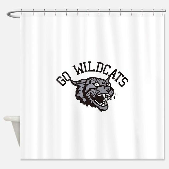 GO WILDCATS Shower Curtain