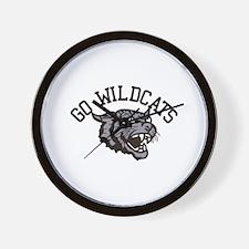GO WILDCATS Wall Clock