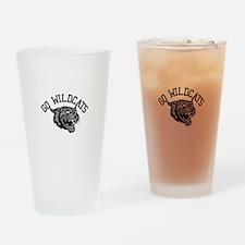 GO WILDCATS Drinking Glass