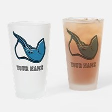 Blue Sting Ray (Custom) Drinking Glass