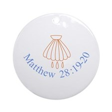 Matthew 28:19-20 Ornament (Round)