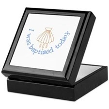 I was Baptized Today Keepsake Box