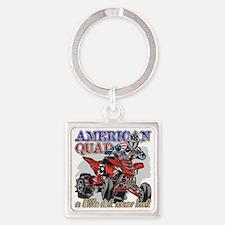 American Quad Square Keychain
